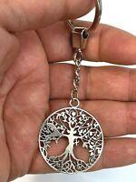 Schlüsselanhänger Baum des Lebens Schlüsselring Lebensbaum Geschenk - Metall