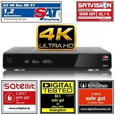 AX 4K-BOX HD51 UHD 2160p E2 Linux Receiver mit 1x Sat (DVB-S2) Tuner  PVR .