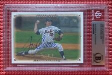 BECKETT signed TOM SEAVER slabbed UD MASTERPIECES #105 card 2008 NEW YORK METS