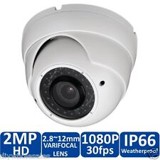 HD CVI 1080P Dome Camera 2MP HDCVI Sony CMOS, Varifocal 2.8-12mm 36 IR, USA New