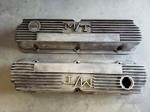 Vintage Ford M/T Aluminum Valve Covers  260 289 302 351w Mustang Torino 140R-55B