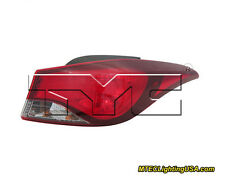 TYC NSF Right Outer Side Tail Light Assembly for Hyundai Elantra SE 2014-2015