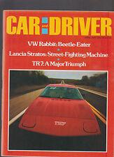 Car and Driver Magazine April 1975 VW Rabbit TR7 Lancia Stratos