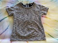 A Pea In The Pod Maternity 3/4 Sleeved Zip-Up Back Top Size Small Gray
