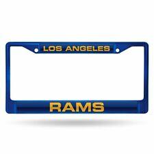 Los Angeles Rams NFL Blue Painted Metal Laser Cut License Plate Frame
