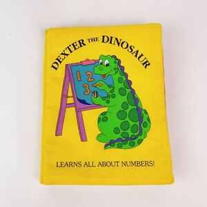 Dexter The Dinosaur Numbers Handmade Fabric Childrens Toddler Soft Book Complete
