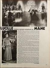 Lucille Balle Makes A Écran Comeback Comme Mama Vintage Film Étoile Article 1973