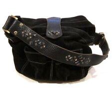 Tylie Malibu Bag Classic Utility Black Suede Leather w/ Pyramid Stud Accents