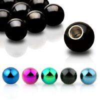 Titanium Anodised Spare Balls for Piercing Bar Barbells