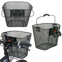 Bike Basket Wire Mesh Bicycle Front With Carry Handle Handlebar Storage Holder