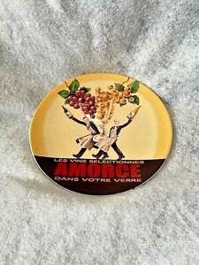 Pottery Barn Wine Bar Amorce Grapes Waiters Glass Beige Salad / Dessert Plate