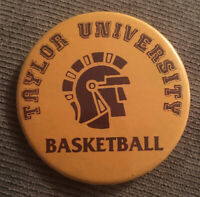 "Taylor University Trojans Basketball 2"" Pinback Button"