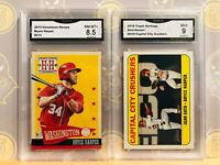 2013 & 2018 Bryce Harper - 8.5 & 9 MINT GMA Graded Baseball Card Lot