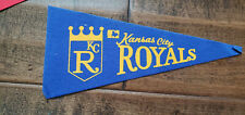 "1969 KANSAS CITY ROYALS INAUGURAL SEASON EXPANSION TEAM MINI PENNANT 4"" X 9"""