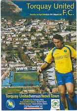 Football Programme - Torquay United v Yeovil Town - Div 3 -  3/4/2004