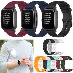 For Garmin Venu Sq/Vivomove/Vivoactive 3 Watch 20mm Silicone Wristband Strap