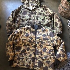 Men's Vintage Browning USA Gore Tex 3 In 1 Camouflage Duck Hunting Jacket Sz XL
