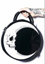 My Dark Moon Gothic Lolita Punk Round Stylish PU Alternative Rock Hand Bag