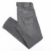 LEVI'S 511 Waterless Grey Denim Slim Straight Jeans Mens W31 L30