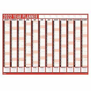 2022 Tallon Large A1 Office Wall Year Planner Commercial Calendar Organiser 3819