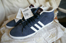 ADIDAS ADRIA PS 3S WOMENS TRAINERS,UK 9.5,NEW,INK BLUE/WHITE,SUEDE+FUR LINING