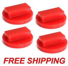X4 RED Polyurethane BMW Floor Jack Pad Adapter 128 135 323 325 328 330 335 535