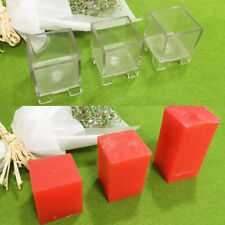 Clear Cube Square Shape Candle Making Mould Soap Mold for Candle Making