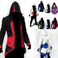 Assassins Creed 3 Connor Kenway Hoodie Jacket Coat Cosplay Costume Men Jackets