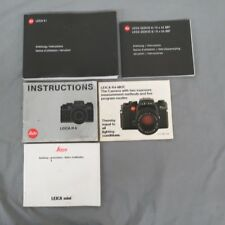 Mixed Lot Vintage Leica Manuals X1 Mini R4 & Geovid Satisfaction Guaranteed
