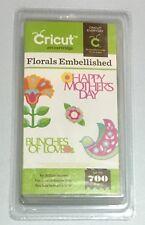 Cricut Cartridge - FLORALS EMBELLISHED - Flowers - Brand New - Sealed