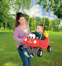 Little Tikes Swing Set Red Car Baby Toddler Seat Outdoor Toys Backyard Fun Play