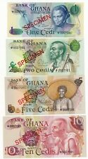 Ghana Specimen Set 1978 Matching # UNC P. 13- 16