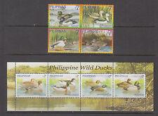 Philippine Stamps 2007 Philippine Wild Ducks set & Souvenir sheet Complete MNH