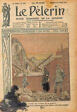 Statue de la Sainte Vierge Ruines Eglise Bataille de Verdun 1919 ILLUSTRATION