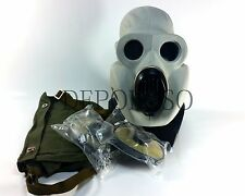 USSR military paratrooper gas mask PBF. Grey rubber mask EO-19 NEW full set
