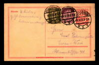 Gremany 1922 80pf Uprated Postal Card (V) - L8405