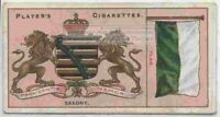 Saxony Flag Banner Emblem Germany 110+ Y/O Ad Trade Card