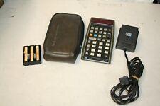 Vintage Hewlett Packard HP-55 Calculator with case & power supply