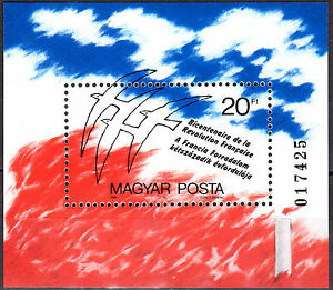 HUNGARY MAGYAR 1989 Bicenten. of French Revolution Souvenir Sheet MNH-FREE SHIP