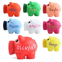 Plastic Personalised Piggy Bank Money Box Pot Saving Unusual and or Any Name UK