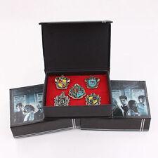 UK Set of 5 pcs Harry Potter Hogwarts House Metal Pin Badge In Box Xmas Gifts