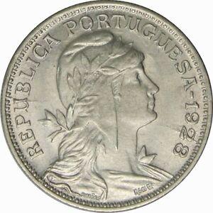 Ek // 50 centavos Portugal 1928 SUP