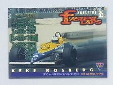 1995 Futera Australian F1 Grand Prix Fastest Laps card #FL1 Keke Rosberg