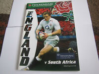 2006 Investec Challenge England vs South Africa Programme