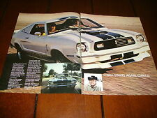 1976 SHELBY MUSTANG COBRA  ***ORIGINAL  2 PAGE AD / POSTER***