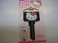 Hello Kitty Black Kwikset KW1 House Key Blank / Sanrio Licensed