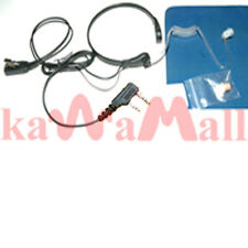 Surveillance throat mic for ICOM ICEBD ICTRT F-plug