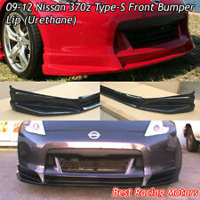 Type-S Style Front Bumper Lip (Urethane) Fits 09-12 Nissan 370z