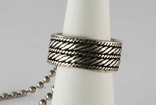 GUESS SILVER & BLACK  2 TWO TONE ETCHED MEN'S BAND RING JEWELRY NWT Sz 9