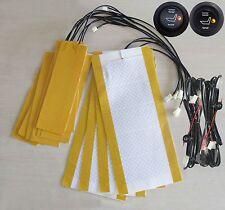 Riscaldamento sedili auto,interruttore rotondo,2 sedile,seat heater,side flap